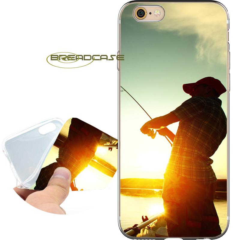 5ce64eb5e15 Fundas Personalizadas Coque Fishing Man Fundas De Deporte Para IPhone 10 X  7 8 6S 6 Plus 5S 5 SE 5C 4S 4 IPod Touch 6 5 Claro Cubierta De Silicona  Suave ...