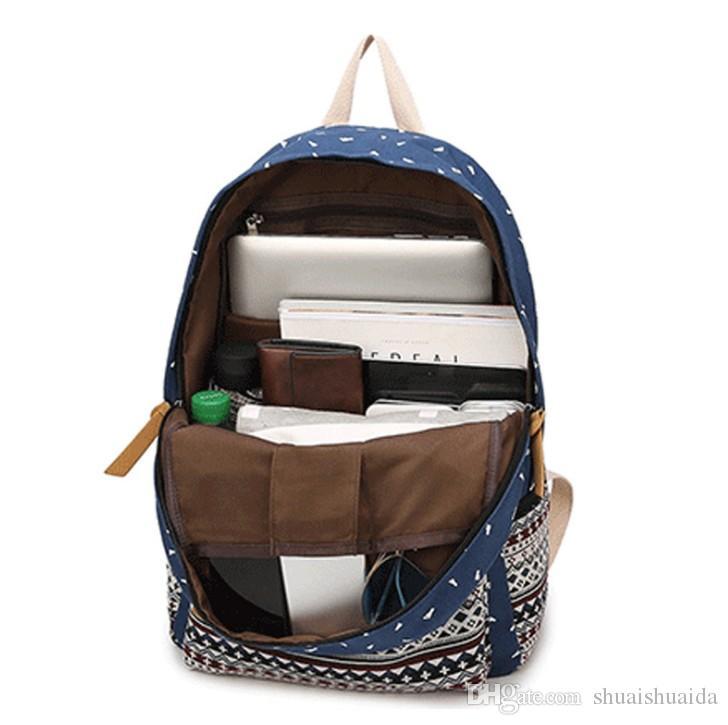 Mochila Tejido de tela Canva + Oxford Mochila La mochila de ocio Mochila de rayas Bolsas de viaje al aire libre Mochila A37 de gran capacidad