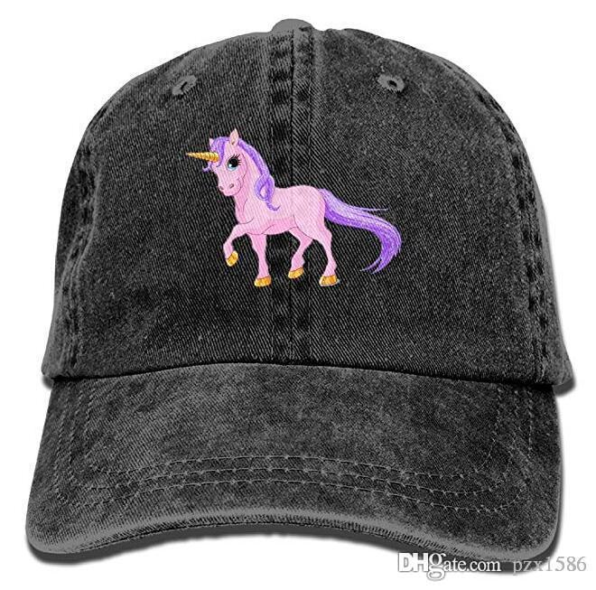 14ca2e241e78c Pzx  Pink Unicorn Cartoon Vintage Cowboy Baseball Caps Trucker Hats Hats  And Caps Skull Caps From Pzx1586