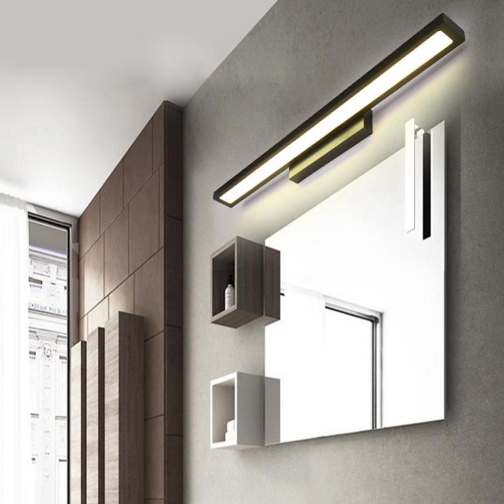 Led wall lamp minimalism mirror front light bathroom makeup wall lights modern aluminum mounted sconces lighting fixture