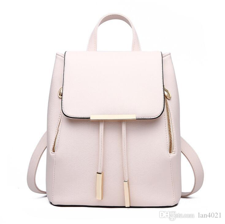 Fashion Women Backpack High Quality Leather Backpacks for Teenage ... 83d0e956d4b0a