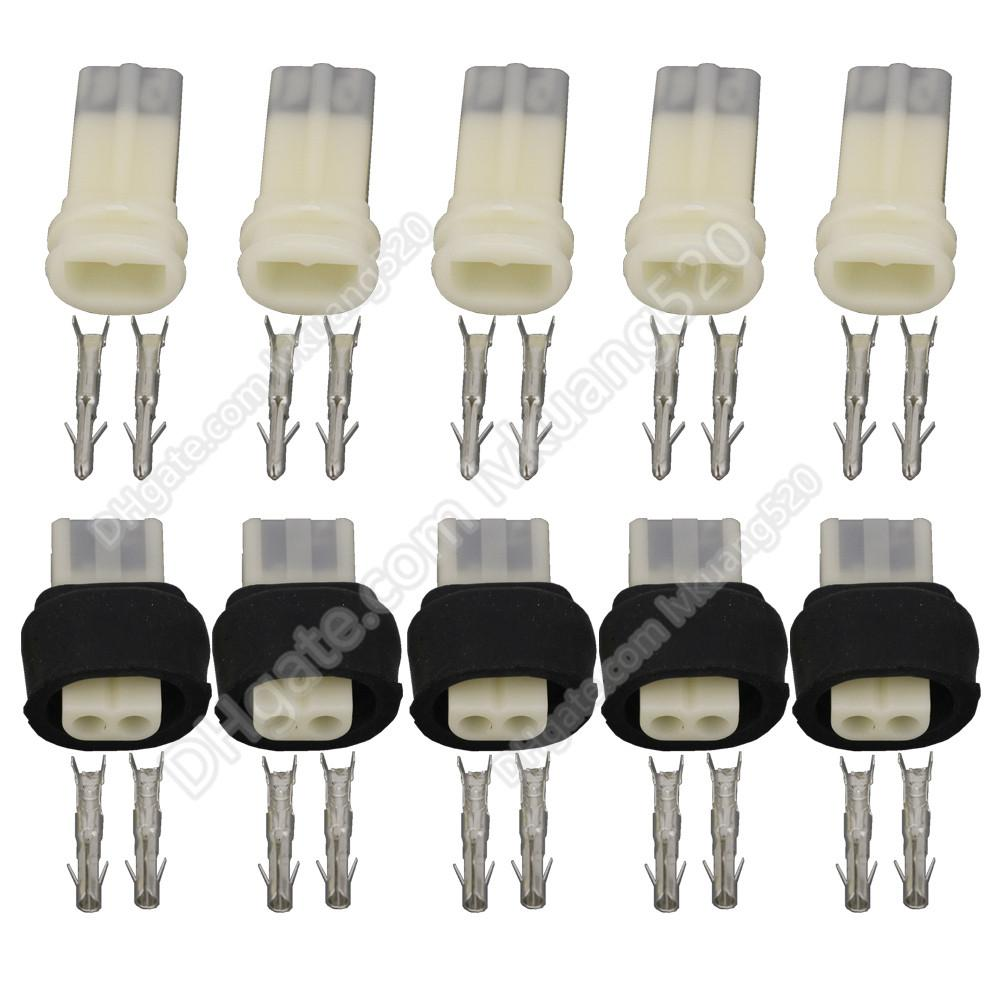 5 Sets 2 Pin Power Waterproof Auto Electrical Female and Male Connector For Motor Motorcycle DJ3021-2.3-11/21
