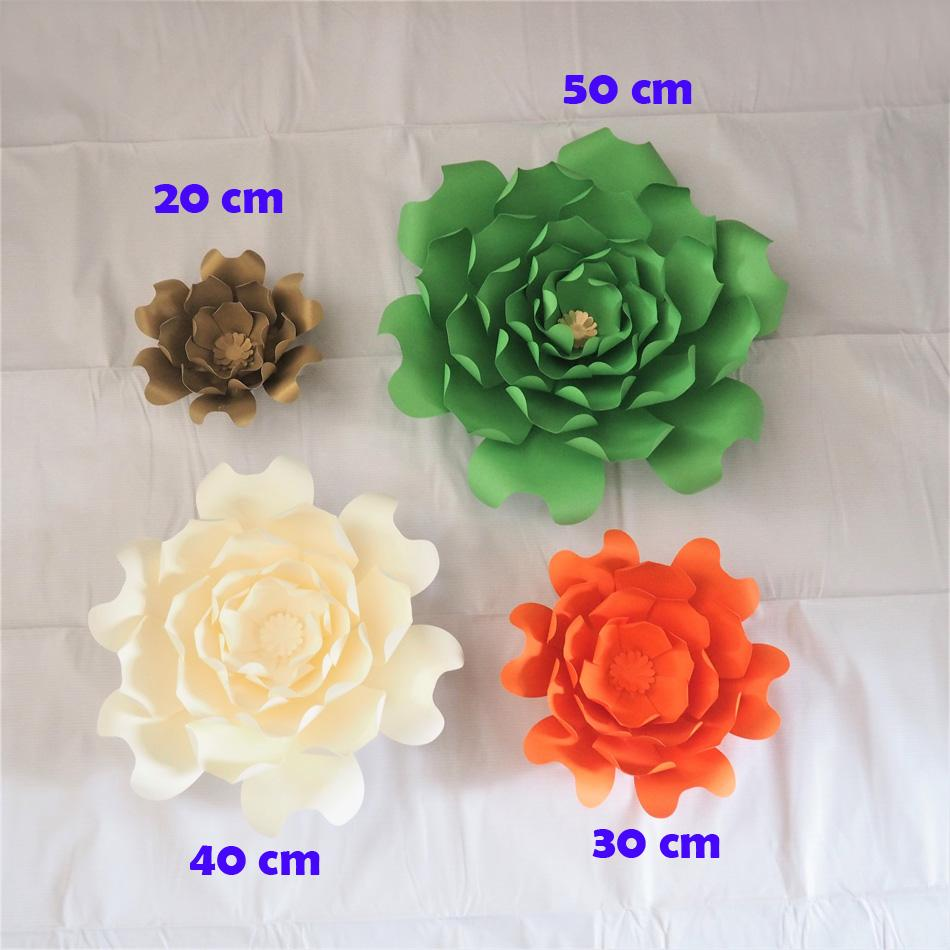 2019 Giant Paper Flowers Artificial Rose Diy Large Paper Rose