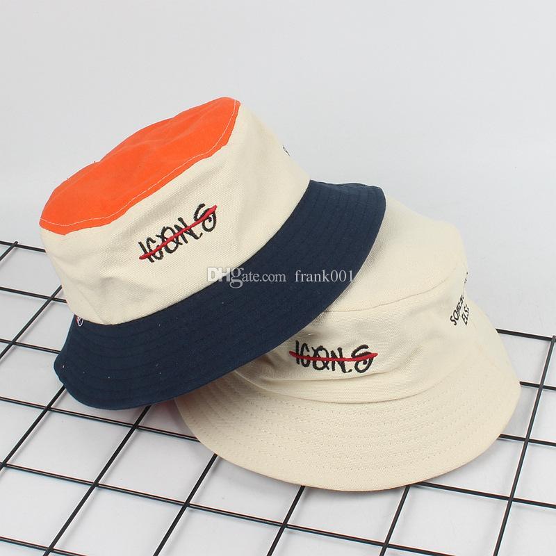 새로운 들어 갔어 남자 여자 양동이 모자 모자 여름 가을 솔리드 컬러 어부 파나마 고품질의 면화 간단한 모자