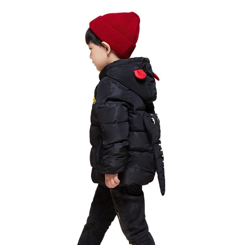 54d9fd27d38 Children jackets winter dinosaur Pattern hooded baby toddler boys jacket  kids parka outerwear Parkas jacket for girl 2018 new