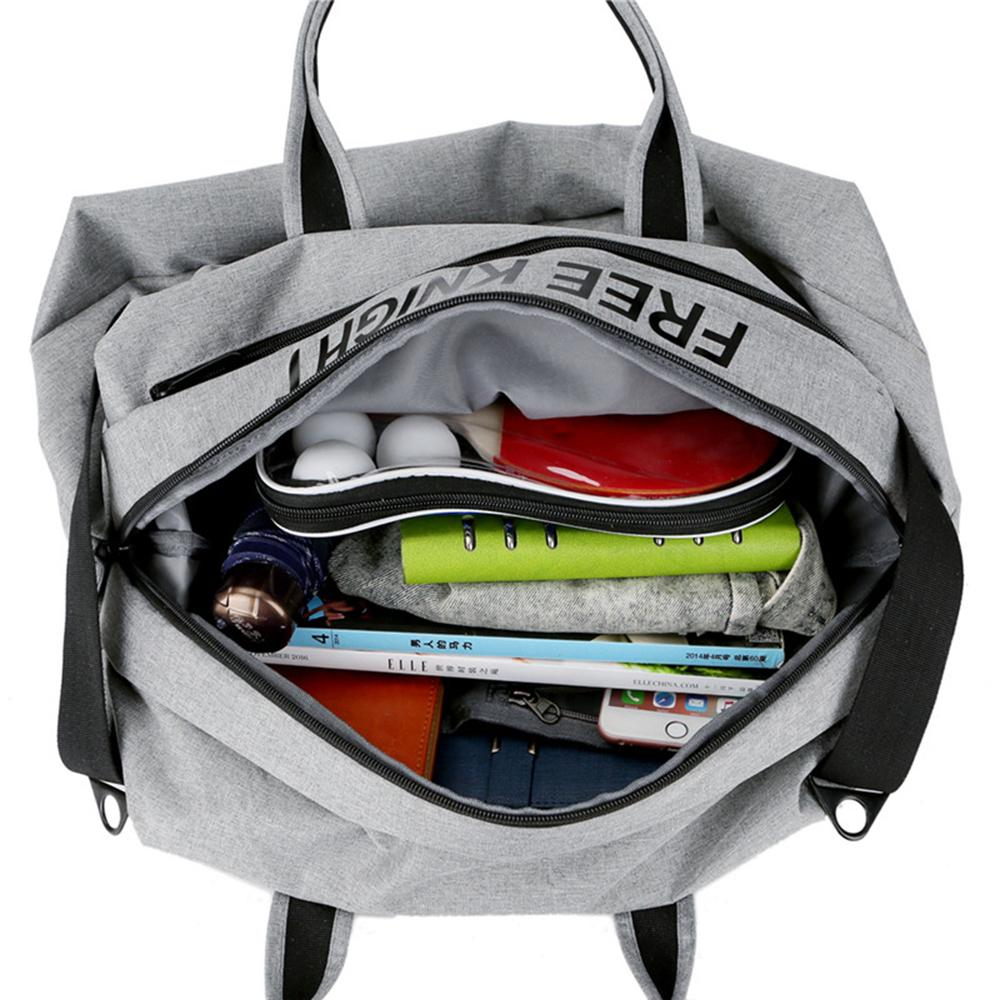 Waterproof Foldable Sport Gym Bag Solid Duffel Bags Fitness Gear Duffle Travel Luggage Overnight Large Capacity AAA293