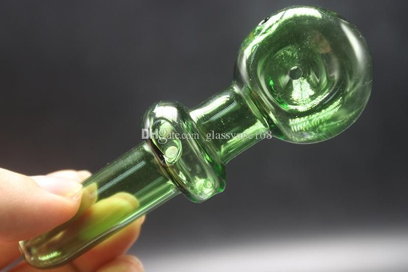 Artesanía Pyrex Glass Oil Burner Pipe Fumar Pipe Hand Pipe Glass Pipe Oil Colorful Pipe Glass Bong Fumar Hookah Hand Pipes