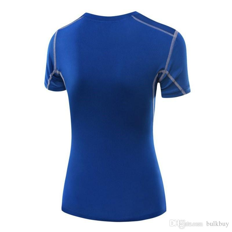 Women Sport training Short Shirts yoga clothes Running Fitness Workout T-shirt Fitness quick-drying Female Sports Tops
