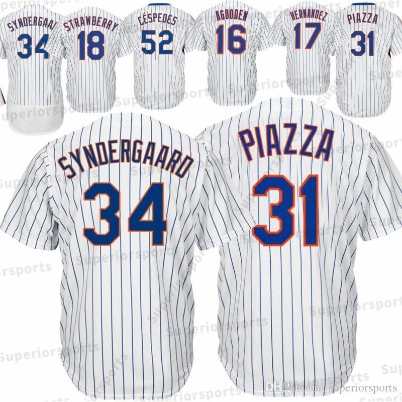 61f24072a2a New York Mets 34 Noah Jerseys 16 Dwight Gooden 17 Keith Hernandez 18 ...
