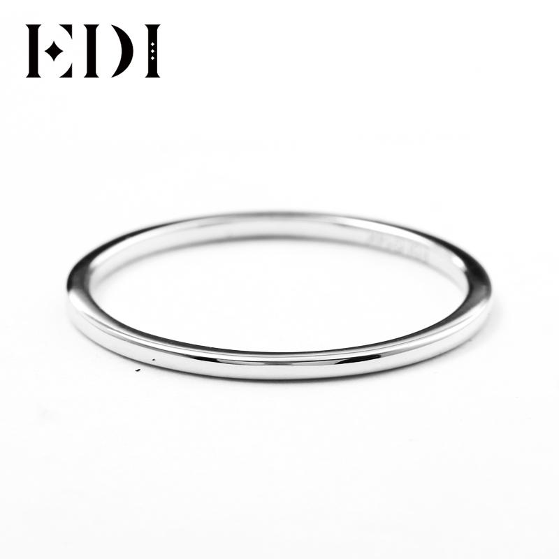 f42813880caeb8 2019 EDI 1mm Thin Domed Wedding Band In 14K White Gold Classic 585 Solid Gold  Ring Band For Women All Match Gift From Vineer, $165.4 | DHgate.Com