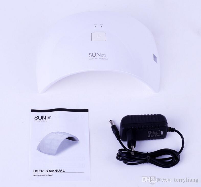 전문 24W 일 9C 네일 드라이 램프 LED UV 빛 발톱 건조기 폴란드어 손톱 젤 아트 살롱 도구