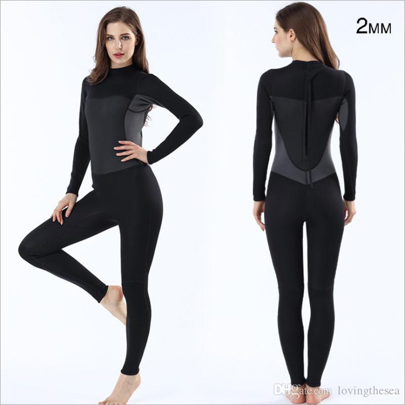64b63b1d94 2019 2mm Neoprene Long Sleeve Short Sleeve Wetsuit For Women UV Protection  Full Body One Piece Diving Suit Nylon Windsurf Wet Suit From Lovingthesea