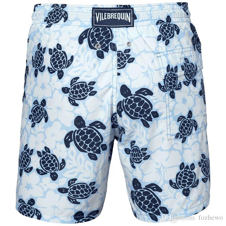 2d5c3544ab997 Compre Homens M 2xl Calções De Banho Masculino Swimwear De Secagem Rápida  Dos Homens Boardshorts Praia De Areia Ginásio Shorts 10 Cores De Fozhewo