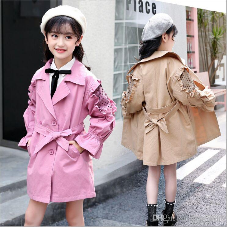 d4e4ab4ed Girls New Style Autumn Windbreaker Cotton Loose Casual Princess Lady ...