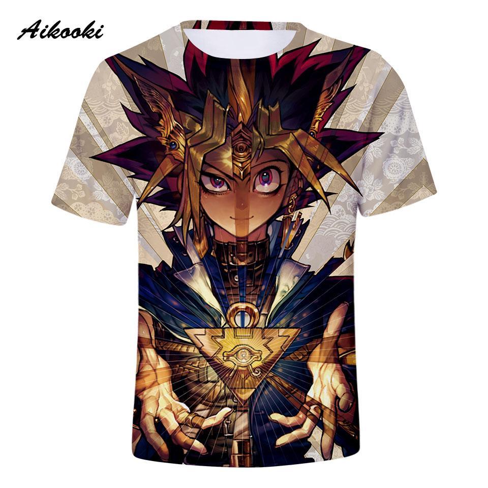cheaper 7b1a9 bf30e Aikooki Yu Gi Oh 3D T-Shirt Männer / Frauen Tshirt 3D Print 2018 Marke  Design T-Shirts Tops Jungen / Mädchen T-Shirt Coole Shirts Top-Kleidung