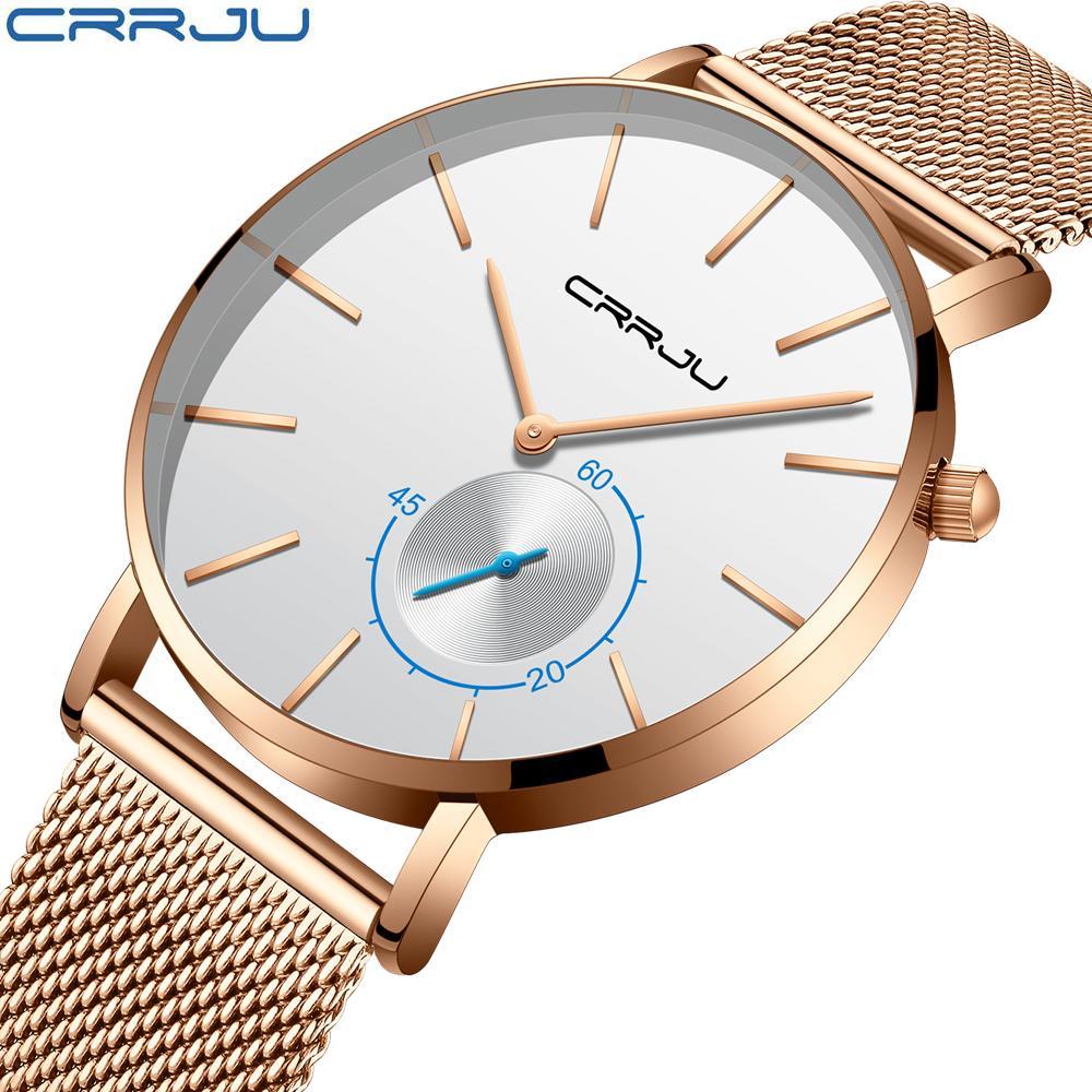 90e0cb17889 Crrju Ultra Thin Watches Top Brand Luxury Wristwatch Men Business Simple  Quartz Sport Leather Wrist Watch Mens Watches Wrist Watches Online Shopping  Online ...