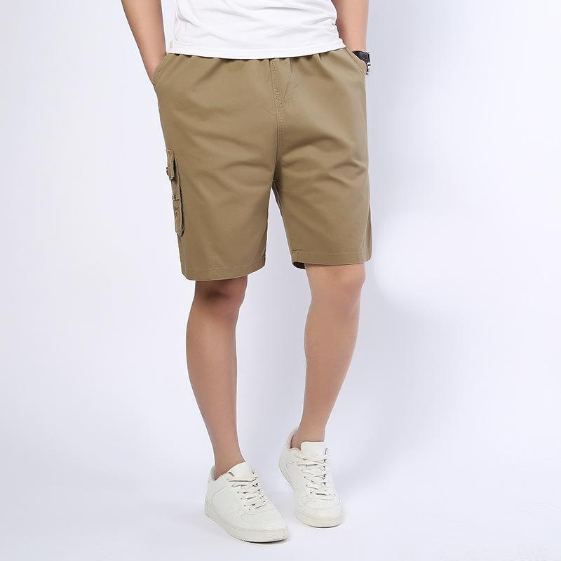 4450c055cc4 5XL Plus Size 2018 Summer Cargo Shorts Men Beach Running Casual Solid Loose  Knee Length Male Work Cotton Shorts Elastic Waist UK 2019 From Karel