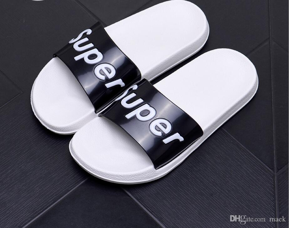 Brand Design Women Men Novelty Slippers Fashion Beach Flat Shoes Couples Outdoor Anti-skid Sandals Summer Flip flops Plus size