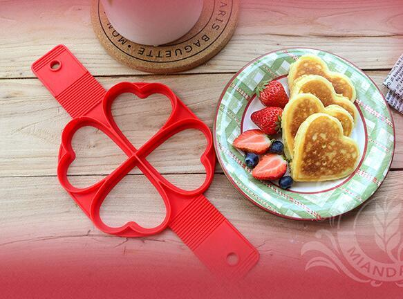 Silicone Pancake Flip Mold Nonstick Flippin Pancake Maker Egg Ring Shape Mould Omelette Baking Accessories Hash Browns Maker Pastry Tools