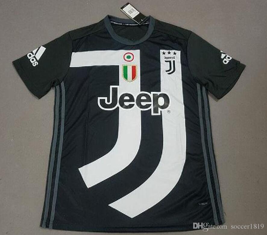 Camiseta De Fútbol De Tailandia 2019 Juventus Edición Conmemorativa En  Blanco Y Negro 18 19 Juven Ronaldo   7 Camiseta De Fútbol Juventus Maillot  De Foot ... 7c77a47a00aa9