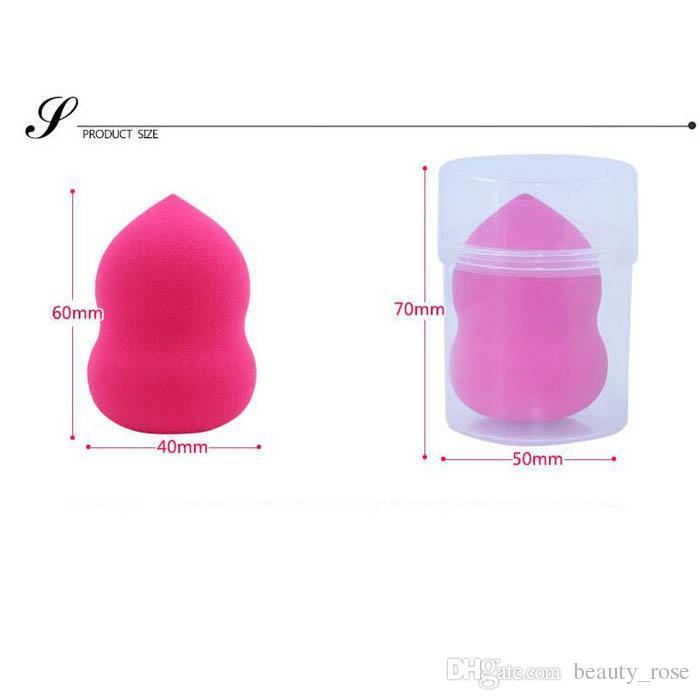 Herramientas de maquillaje Esponja Puff Facial Cosmética Puff Soft Concealer Foundation Maquillaje esponja Cara Powder Puff con caja 40x60mm /