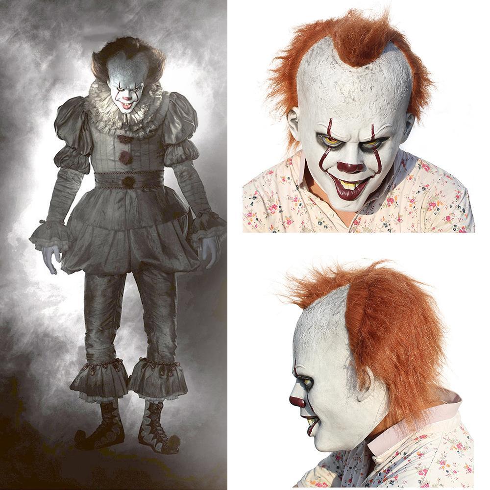 d3c3c6f95378 Acquista Scary Halloween Maschera Pennywise Costume Stephen King IT 2  Maschera Da Clown Spaventoso Cosplay Uomini Giocattolo Bambini Dolcetto O  Scherzetto ...