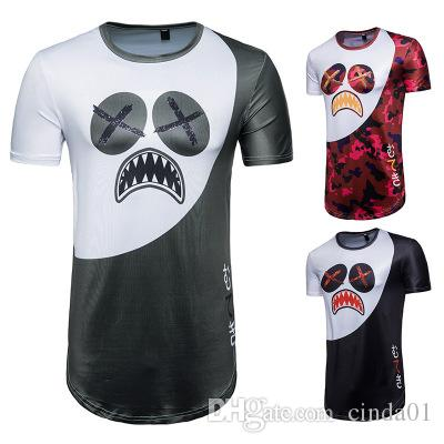 d210a1cf Hip Hop Summer T Shirt Printed Male Longlines Funny Emoji Printed ...