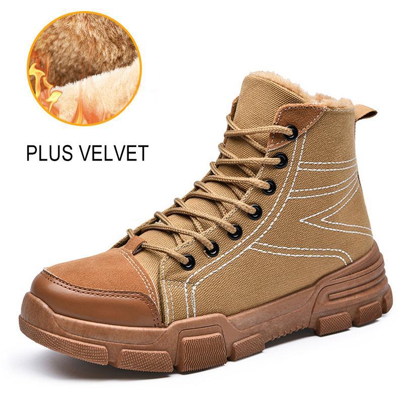 5a7a3ebe7 Compre LAKESHI Homens Botas Sapatos De Inverno Moda Botas De Moto Homens  Sapatos De Inverno Quente Pele De Neve Tornozelo Homem Casual De Biuhouse,  ...