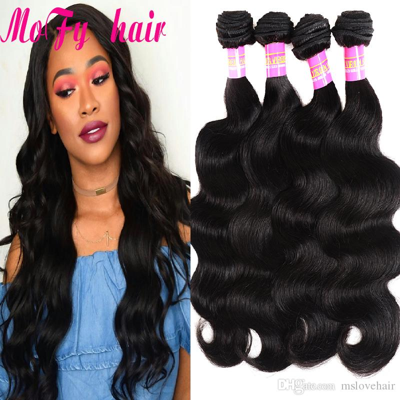 Peruvian Body Wave Bundles 100% Human Hair Bundles 3 or Non Remy Hair Extensions Natural Black Hair Weave Cheap Peruvian Body Wave