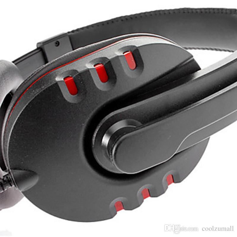 PS4 Headphone Microfone Volume Control Headset Auscultadores estéreo com fio de fone de ouvido com cancelamento de ruído com microfone Headset