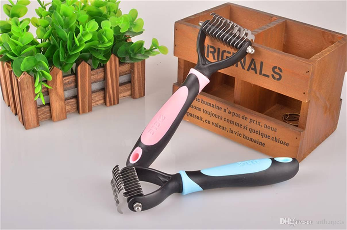 Pet Cat Dog Comb Brush Professional Stainless Steel Opet Hair Knot Knife for Matted Hair Grooming Dematting