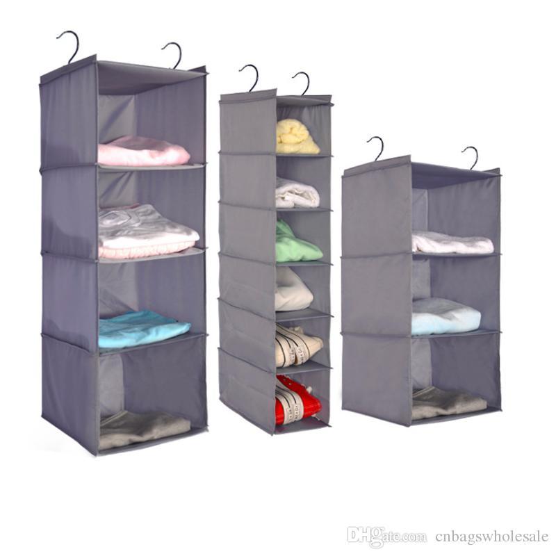 Grosser Kleiderschrank Veranstalter Hangetasche Kleiderschrank Waschbar Oxford Lager Faltbare Packung 3 Oder 4 Oder 6 Schichten