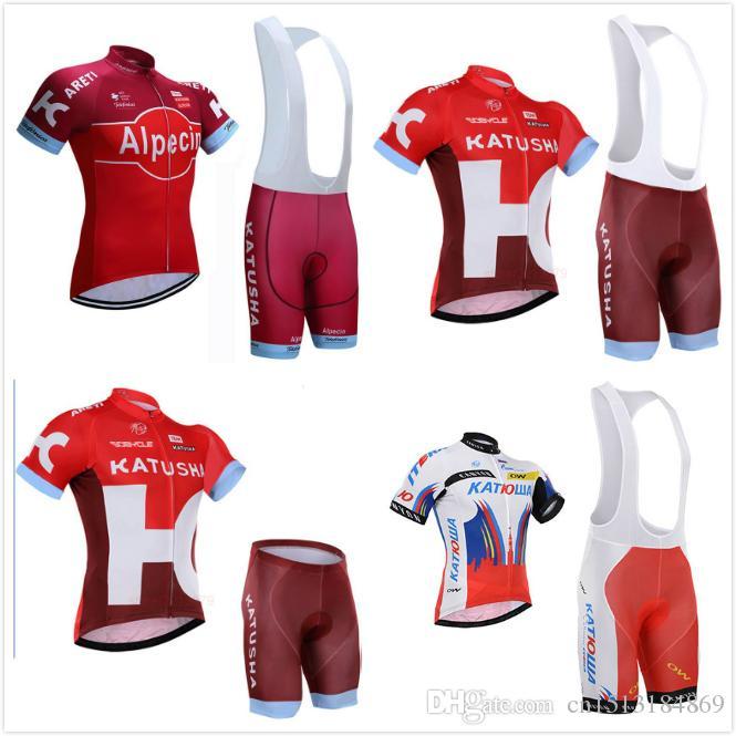 2018 Pro Team Katusha Alpecin Short Sleeve Cycling Jersey Kit Ropa Ciclismo  Breathable Bicycle Clothing MTB Bike Jersey Bib Shorts Set Cycling Jersey  Design ... 12137960b