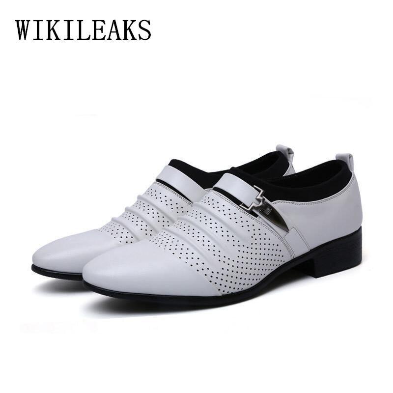c26103e1 Compre 2018 Verano Ahueca Hacia Fuera Los Zapatos De Vestir Para Hombre  Zapatos Oxford De Cuero Para Los Hombres Formales Mocasines Hombre  Mocasines Hombre ...