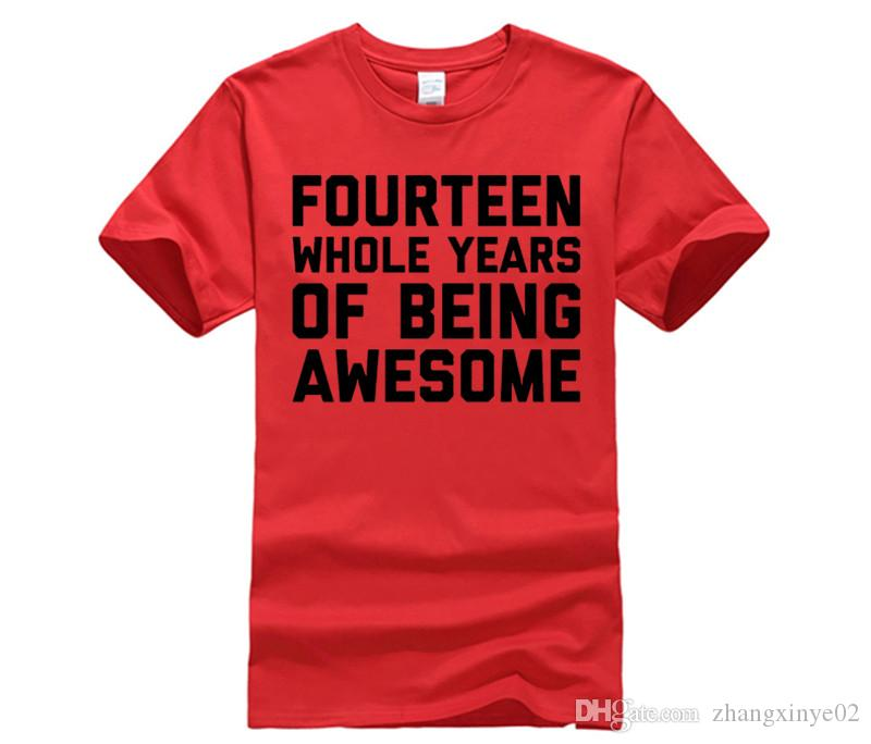 14th Birthday Shirt Gift Age 14 Fourteen Year Old Boy Girl Graphic T Shirts Custom From Zhangxinye02 1421