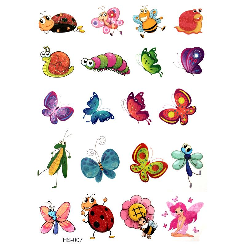 Butterfly Waterproof Temporary Tattoos Flower Fairy Tattoo Kids