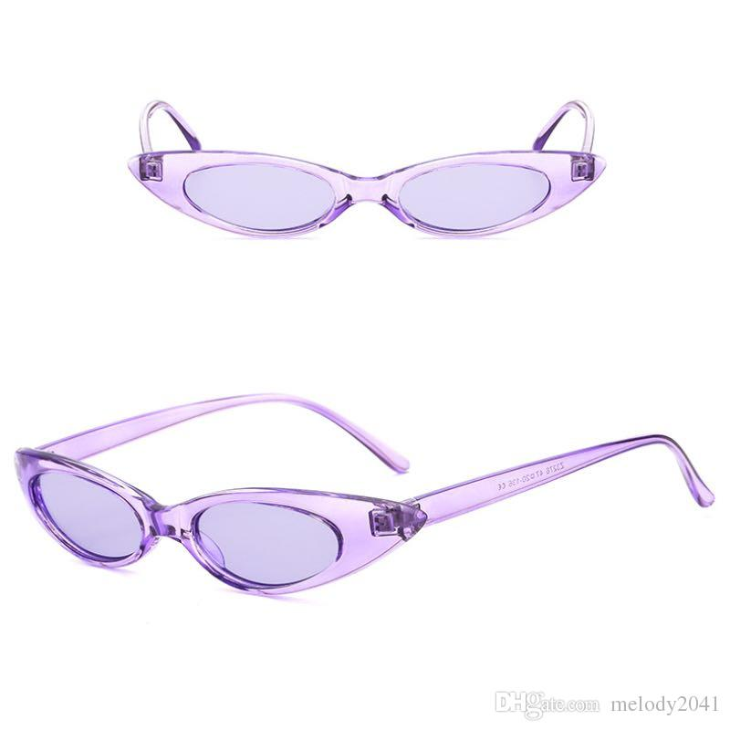 2018 New Slim Fashion Sunglasses Metal Hinge Oval Frame Cool Small Sun Glasses For Women And Men UV400 Candy Colors