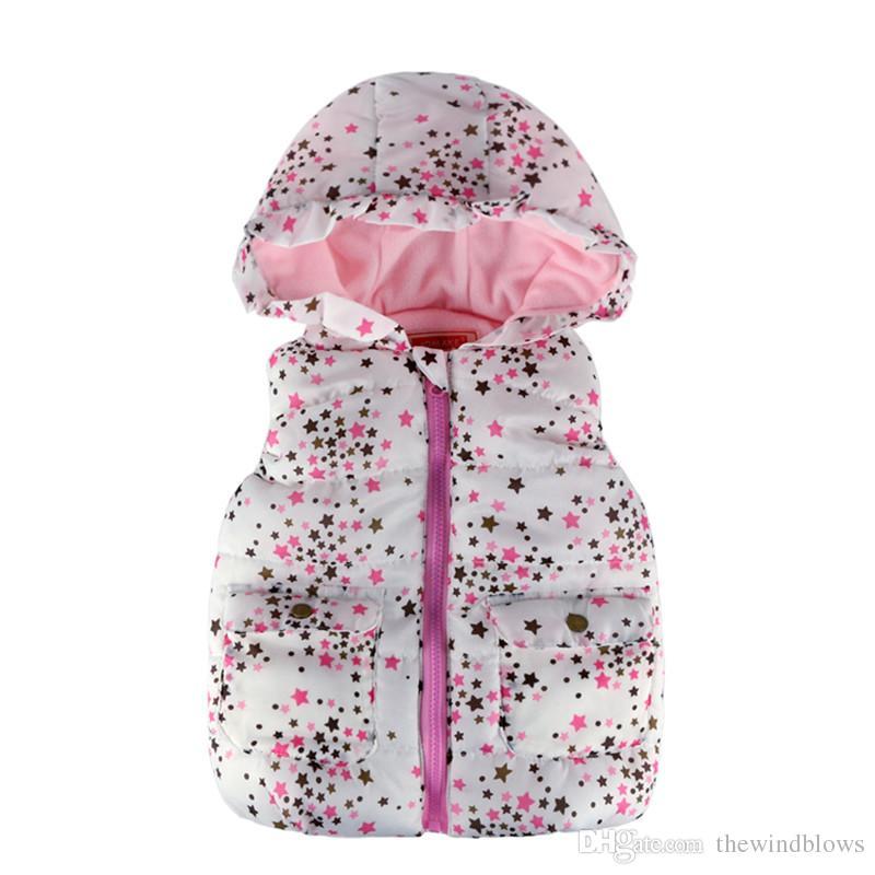 d3179b10f59e Kids Clothes 2018 New Winter Star Print Girls Jacket Coat Casual ...