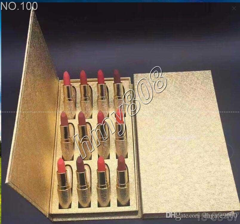DHL M brand Frost Sexy lipstick M Makeup look in a box be sfnsational mini size Lipsticks 12 Frost Matte Lipstick