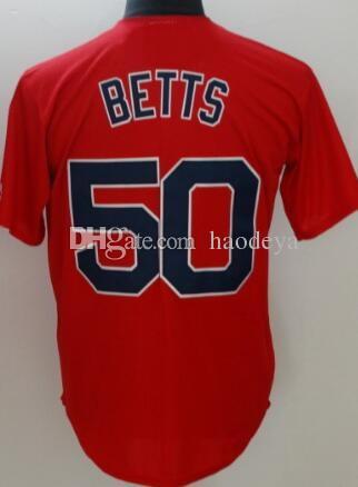 4c6207e0d 2019 Personalized 28 J.O.MARTINEZ 50 BETTS Authentic Baseball Jerseys