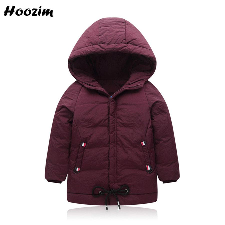 e13865245 Army Green Winter White Duck Down Long Jacket For Boy 5 6 7 8 9 10 ...