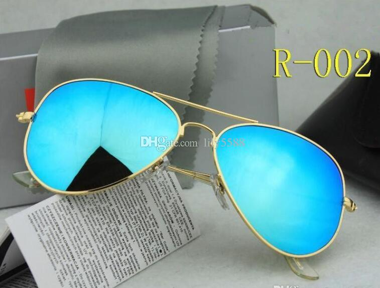 AAA High quality Polarized lens pilot Fashion Sunglasses For Men and Women Brand designer Vintage Sport UV400 Sun glasses With case and box