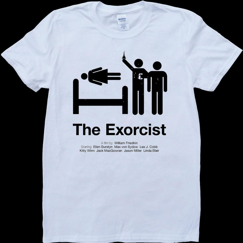 The Exorcist White Custom Made T Shirt Cool Casual Pride T Shirt