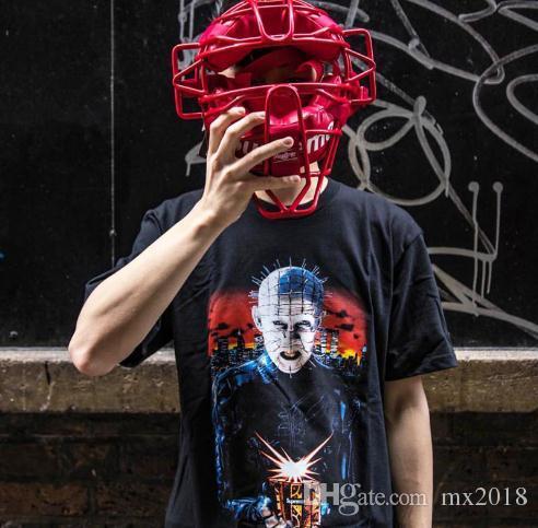 Marca Inferno da Maré na Terra Tee T-shirt dos homens Diabo impressão  curto-de mangas compridas mulheres casal t-shirt dos homens maré T dos  homens