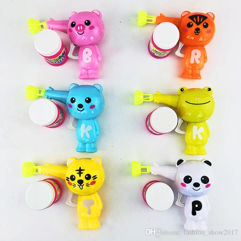 Popular Outdoor Kids Toys Soap Blow Animal Bubble Gun Child Cartoon Model Plastic Toys Baby Gift Colorful Water Gun