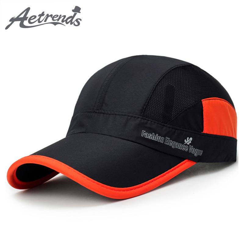 43636707127 AETRENDS 2018 New Summer Breathable Mesh Baseball Cap Men Or Women Outdoor  Sport Snapback Hats Bone Z 6307 Flat Caps Trucker Caps From Kuchairly