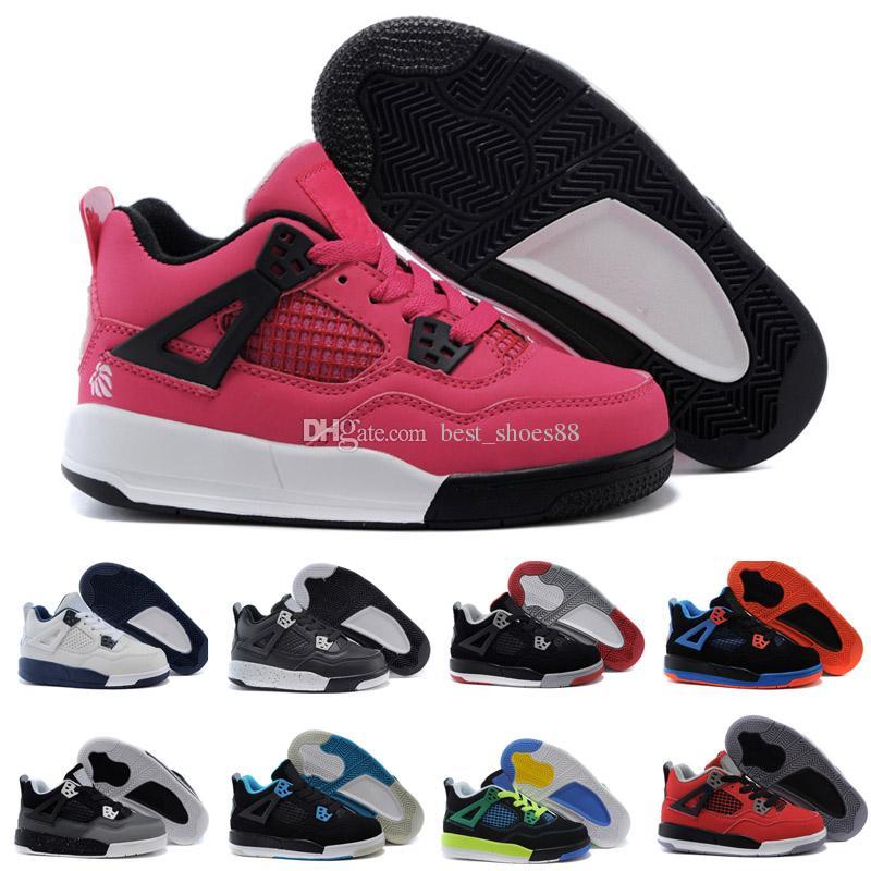 new concept 663de b175c Compre 2018 Nike Air Jordan 4 13 Retro Niños 4 4s Bred TORO BRAVO Fire Red  Black Red Hombres Mujeres Zapatillas De Baloncesto Zapatillas De Calidad  Superior ...