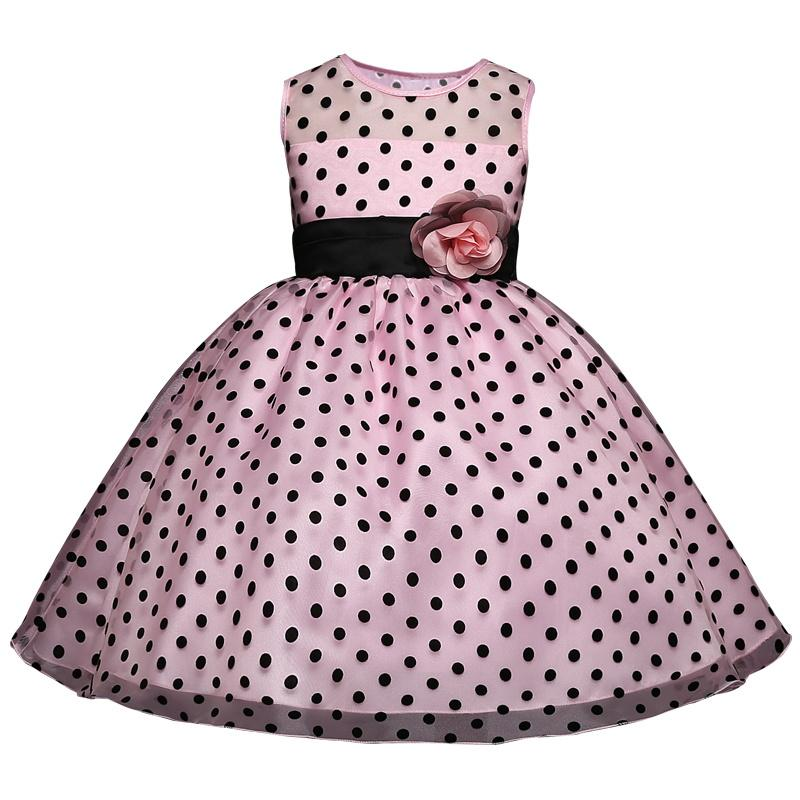 Toddler Baby Girl Dresses Fashion Ball Bown Princess Dress Infant Children Wedding And School Party Clothes For 4-10 Years Wear
