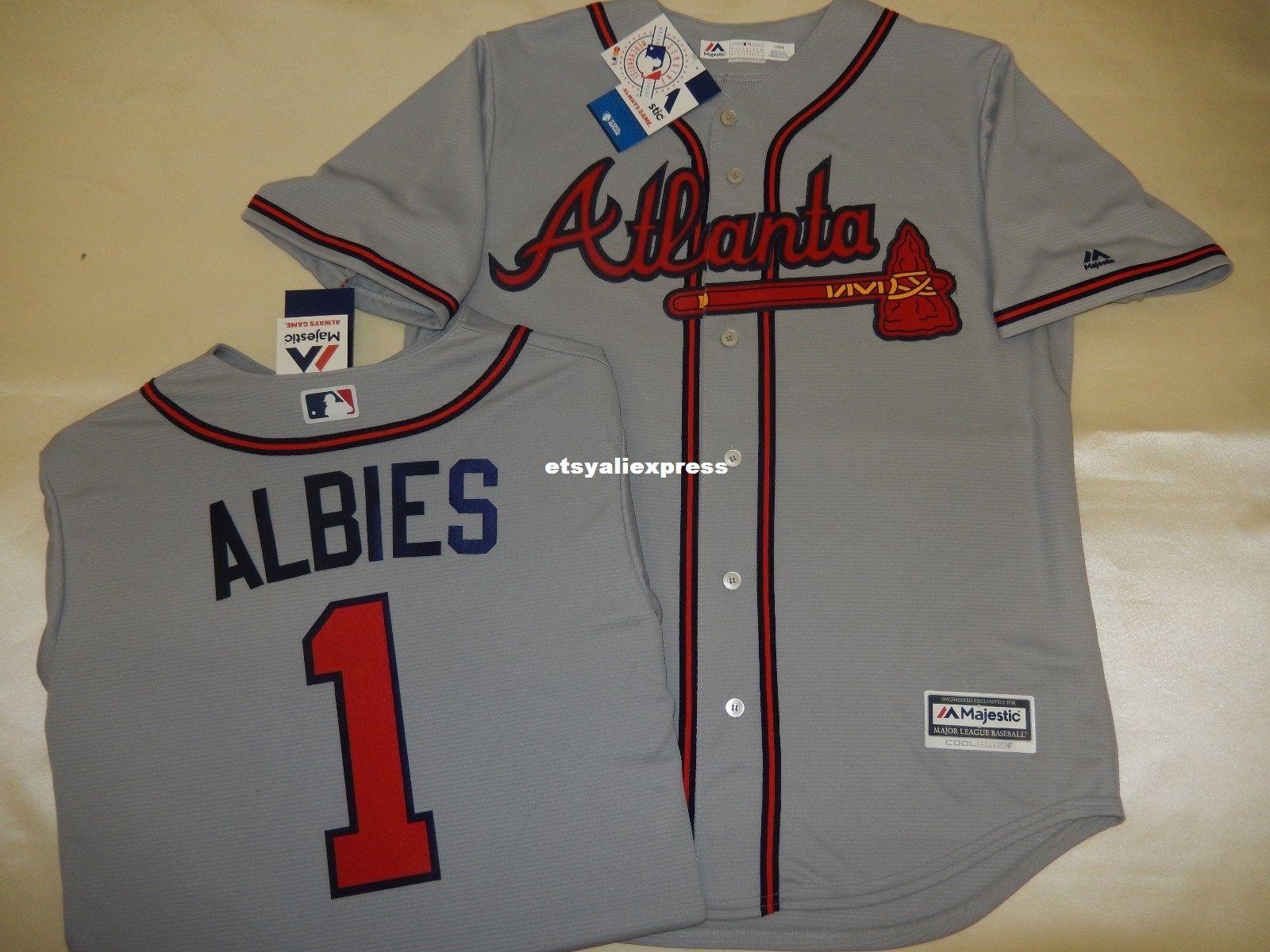 Cheap MENS MAJESTIC Atlanta  1 OZZIE ALBIES Baseball Cool Base JERSEY GRAY OZZIE  ALBIES Jersey Wholesale ALBIES Jersey ALBIES Baseball Jersey Online with ... 9c2bef209