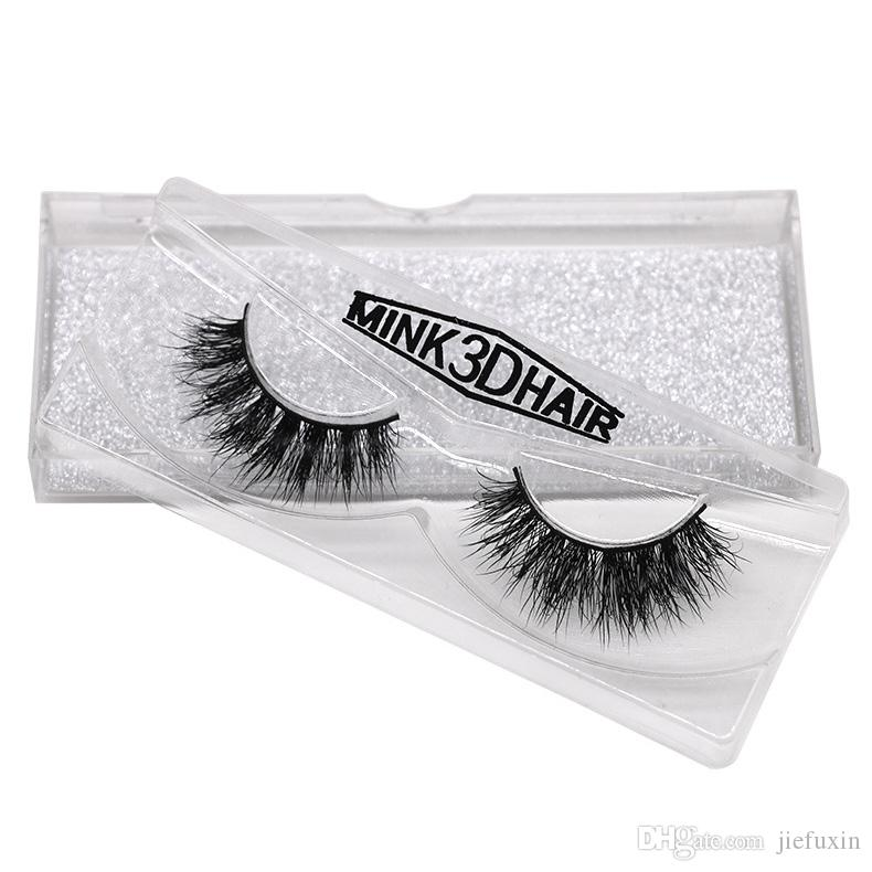 Top quality 3D Mink lashes thick real mink hair false eyelashes natural for Beauty Makeup Extension fake eyelashes free shipping